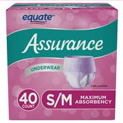Assurance Incontinence Underwear for Women, Maximum, Small/Medium, 40 Ct
