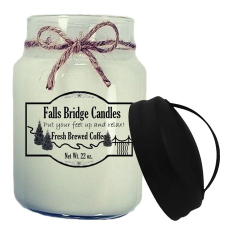 - Fresh Brewed Coffee Scented Jar Candle, Large 22-Ounce Soy Blend, Falls Bridge Candles