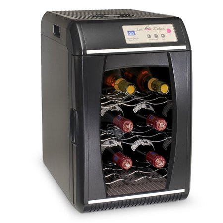 The Cellar 9 Bottle Countertop Portable Wine Cooler Black