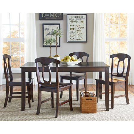 Standard Furniture Larkin 5 Piece Dining Table Set Mellow Antique Cherry