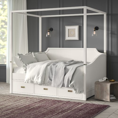 & Harriet Bee Angus Canopy Daybed with Trundle - Walmart.com