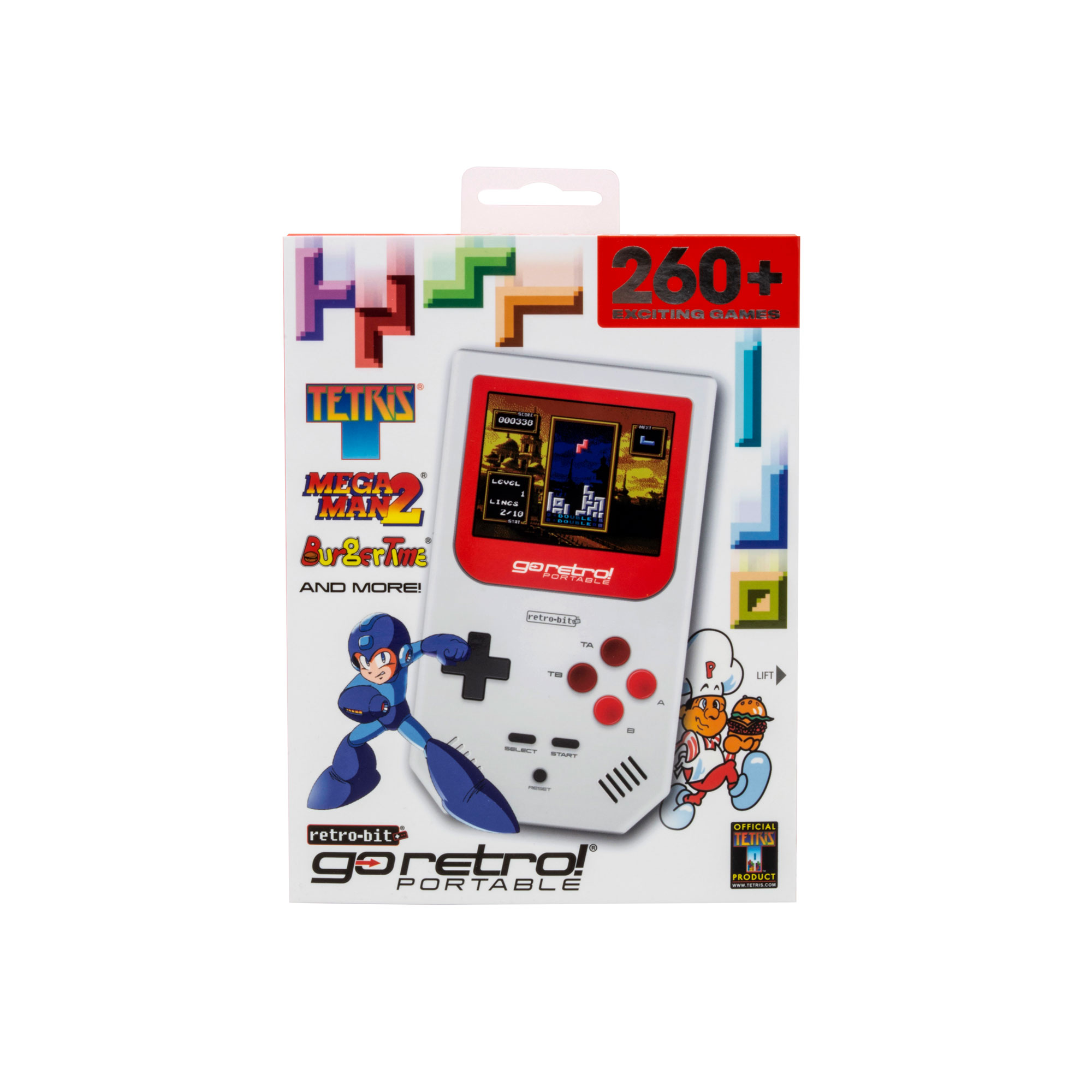 Retro-Bit Go Retro Portable, White / Red, RB-PP-9912