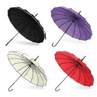 2.95ft Creative Vintage Pagoda Parasol Bridal Wedding Party Sun Rain UV Rain Umbrella