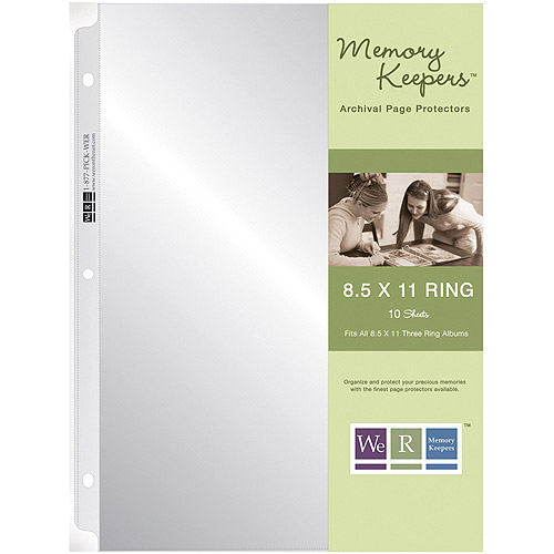 "We R Memory Keepers 8.5 x 11"" 3-Ring Album Page Protectors 10 pack - NEW"