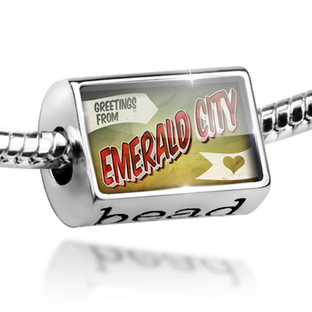 Emerald City Vintage (Bead Greetings from Emerald City, Vintage Postcard Charm Fits All European Bracelets)
