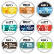 Maud's 9 Flavor Coffee Variety Pack, 80ct. Recyclable Single Serve Coffee Pods Variety Pack  100% Arabica Coffee California Roasted, Keurig KCups Variety Pack Compatible Including 2.0