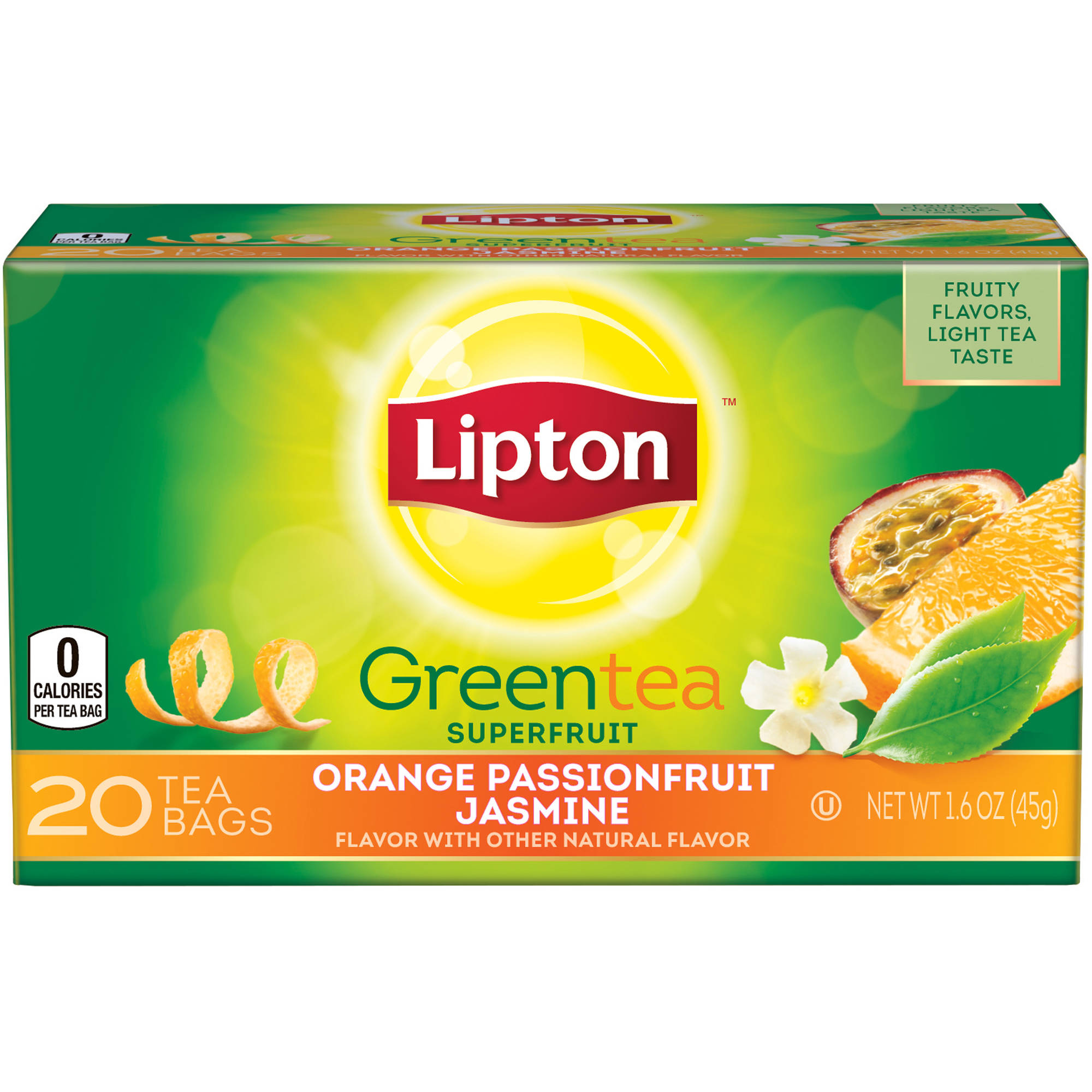 Lipton Orange Passionfruit Jasmine Green Tea Bags, 20 ct
