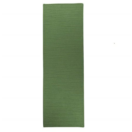 Colonial Mills Reversible Flat-braid (rect) Runner Braided Rt68 Moss Green 2'4