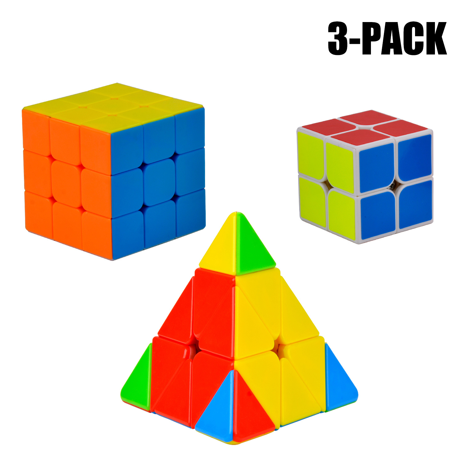 3 Pack Speed Cube, Bangcool Professional Stickerless Magic Cube Puzzle Toy for Adults... by Bangcool