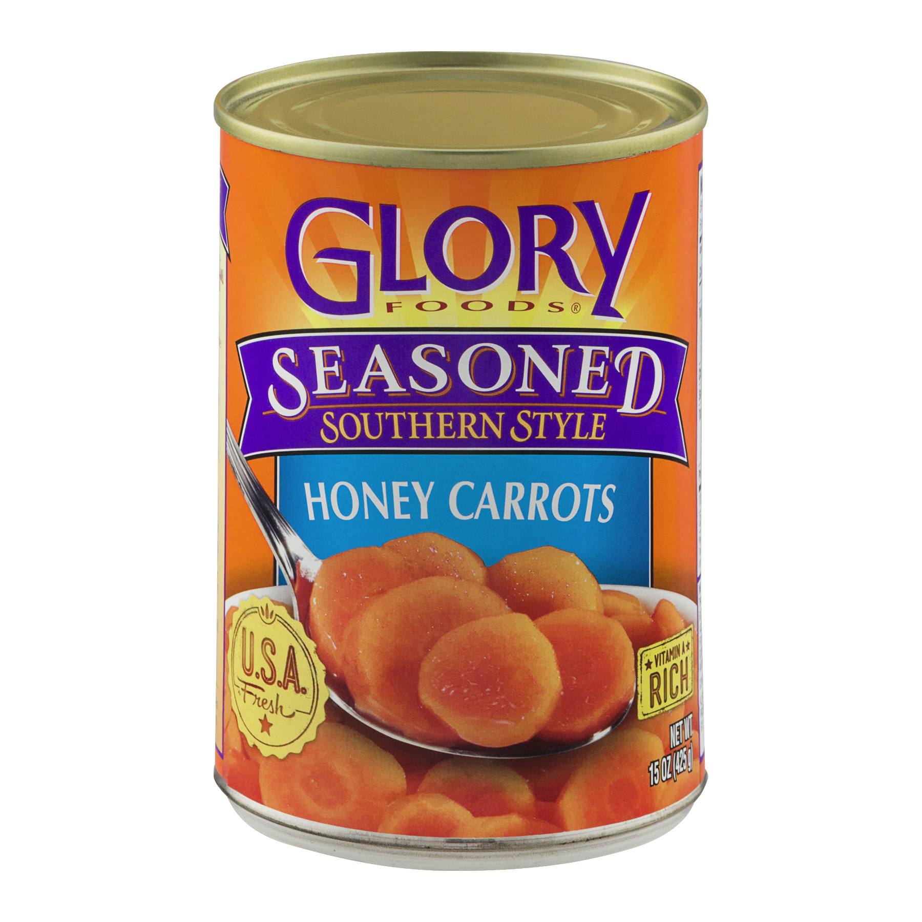 Glory Foods Seasoned Southern Style Honey Carrots, 15 Oz