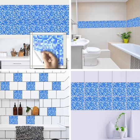 Gobestart 10pcs Self Adhesive Waterproof Marble Mosaic Wall Art Kitche
