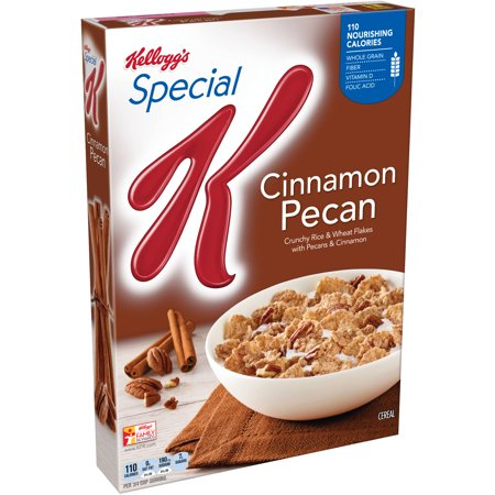 Kellogg's Special K Cinnamon Pecan Cereal, 12.1 oz - Walmart.com