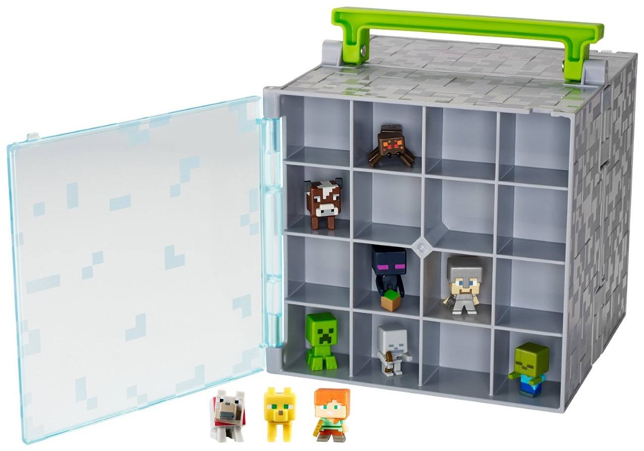 Minecraft Mini-Figure Collector Case with 10 Mini-Figures by Mattel