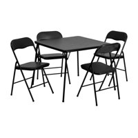 a0ce0312763 Product Image Offex 5 Piece Black Folding Card Table and Chair Set  OF-JB-1