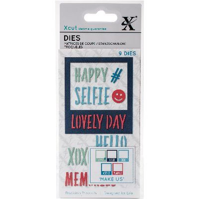 Xcut Decorative Dies 9/Pkg-Selfie Frame & Sentiments