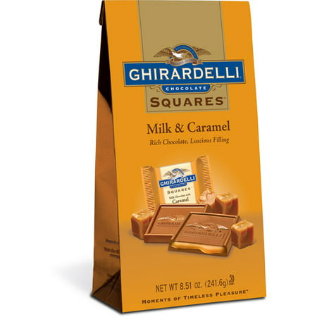 Ghirardelli Squares Milk and Caramel Chocolates, 8.5 Oz. - Halloween Chocolate Caramel Apples