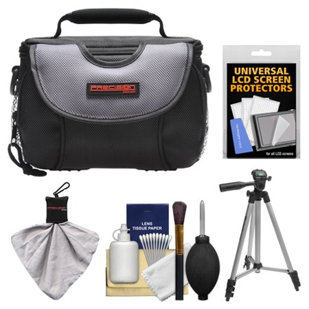 Precision Design PD-C15 Digital Camera Case with Tripod + Cleaning & Accessory Kit for Nikon 1 J1, V1 Digital Cameras