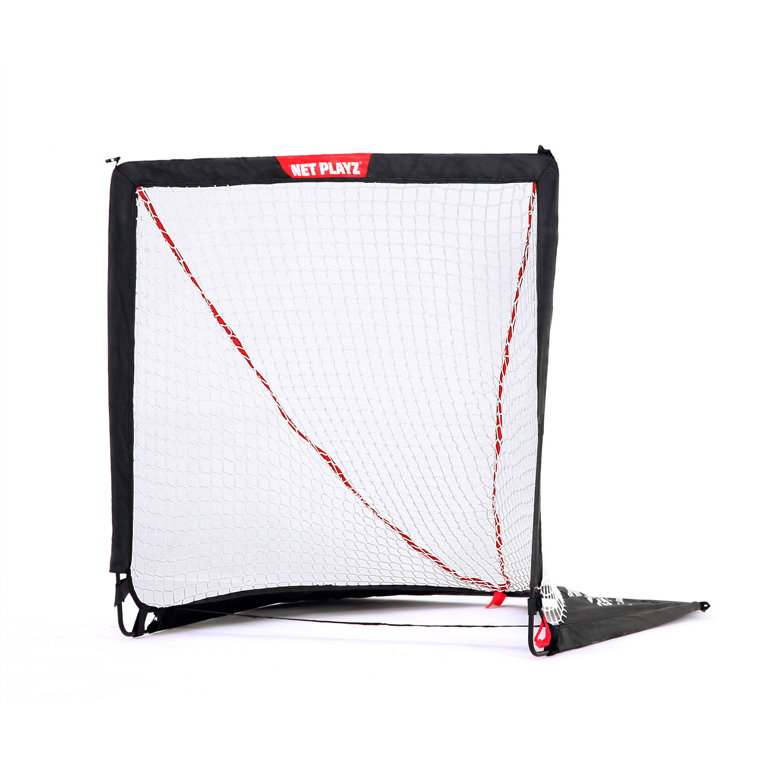 Net Playz Portable Easy Fold-Up Lacrosse Goal, 4ft x 4ft or 6ft x 6ft by TRI GREAT USA CORP.