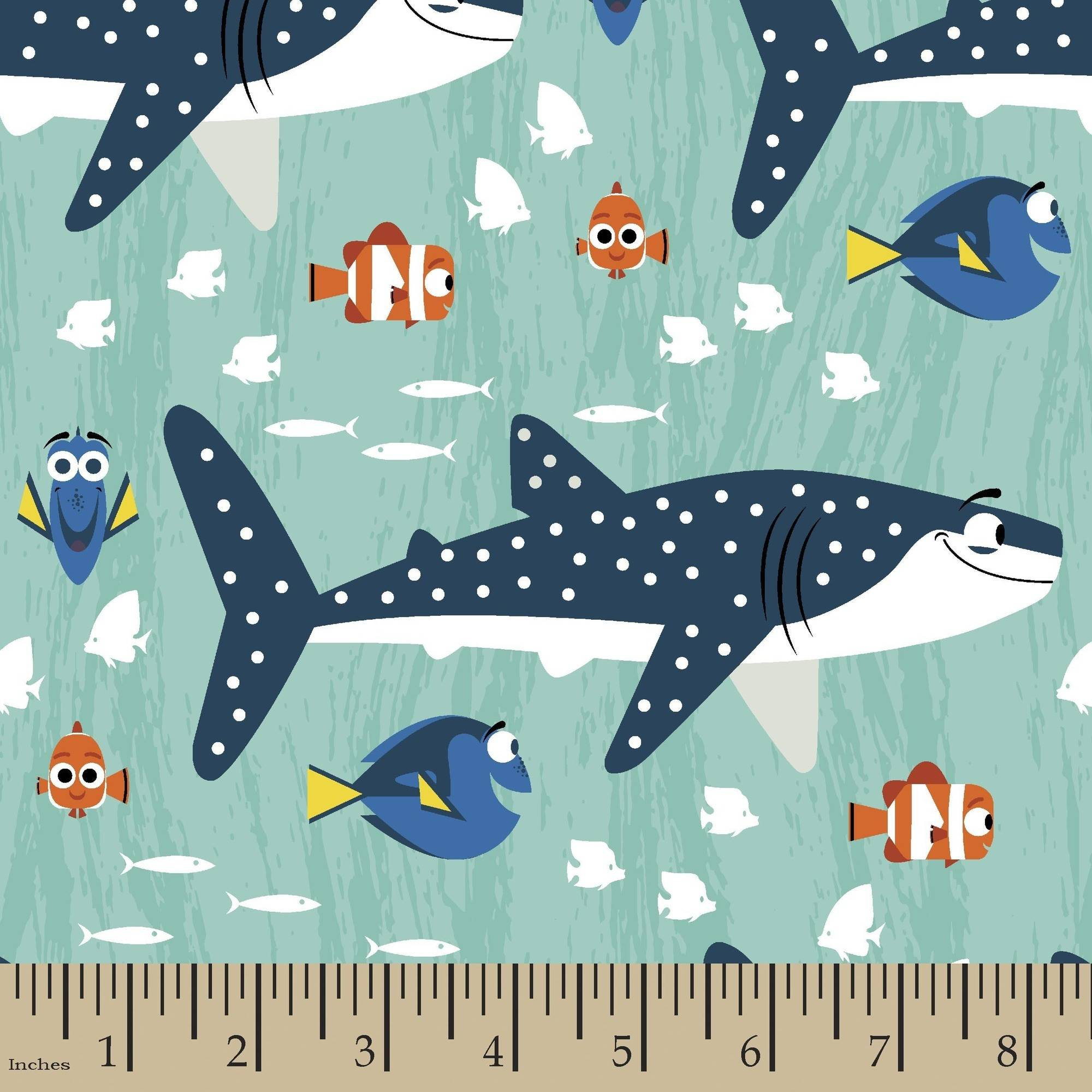 Disney Finding Dory Finding Dory Shark and Nemo Boy 43/44 Fabric by the Yard