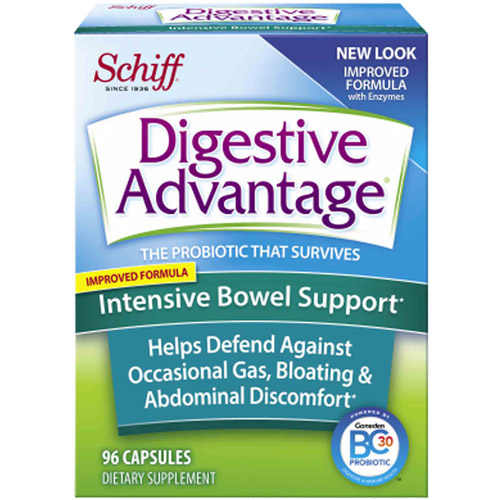 Digestive Advantage Intensive Bowel Support Probiotics Supplement, 96 Count