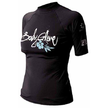 Body Glove 1210WXSXX  1210WXSXX; Basic Womens Short Sleeve Lycra Rash Guard Xs Black Rashguard