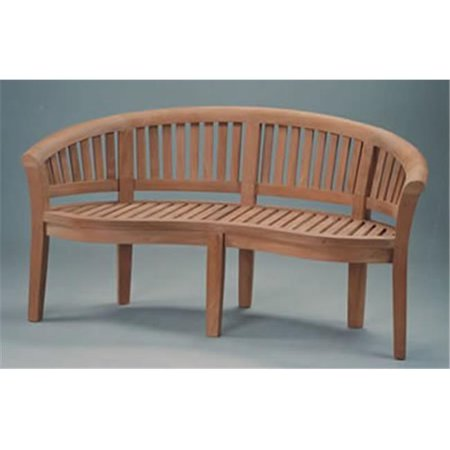 Anderson Teak BH-005CT 5-Foot Curve Bench Extra Thick Wood Bench Extra Thick Wood