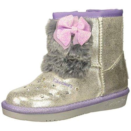Skechers Kids Girls' Glamslam Sneaker, Silver (Af1 Sneakers)
