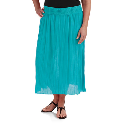 faded s plus size crinkle maxi skirt walmart