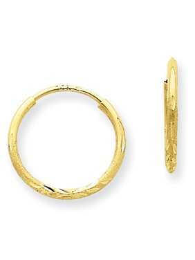 a7d12e4c9 Product Image 14kt Yellow Gold 1.25mm Diamond-Cut Endless Hoop Earrings