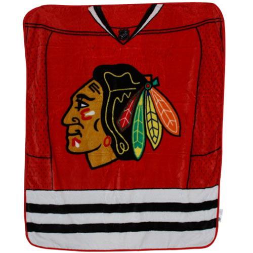 Chicago Blackhawks 50'' x 60'' Red-White-Black Jersey Series Royal Plush Blanket Throw - No Size