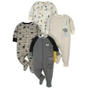 Gerber Baby Boy Organic Sleep 'N Play Pajamas, 4-Pack