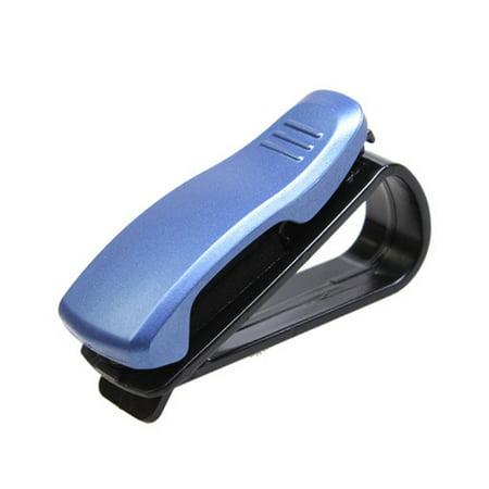 Car glasses Clip Sunglasses Holder Clip Billfold Blue Sunglasses Holder Cap