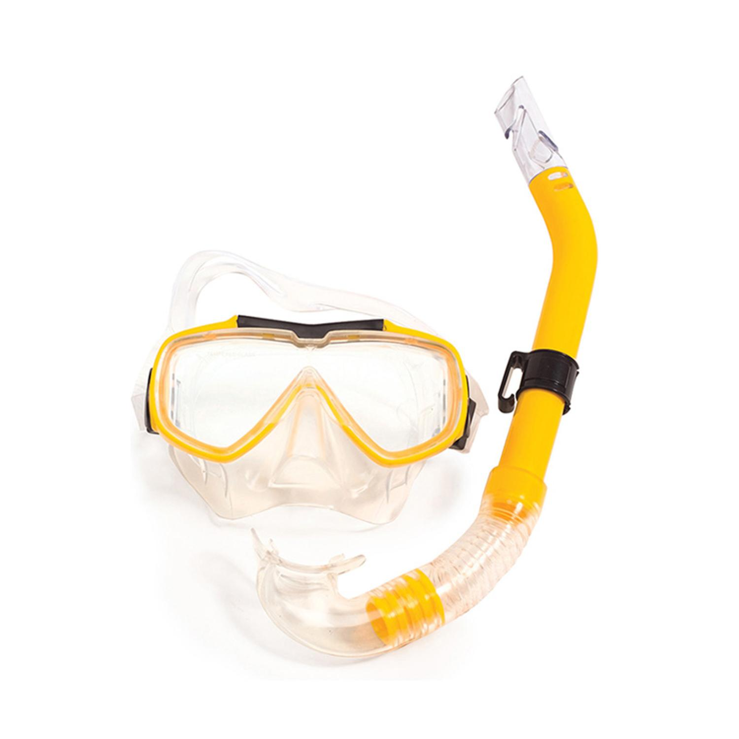 Yellow Baja Adult Goggles Mask and Snorkel Swim Set by Swim Central