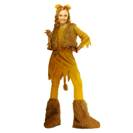 Totally Ghoul Girls Lion Costume with Dress Vest & Headband 4-6](Totally Costume)