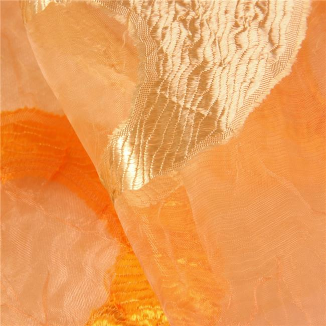 10-JUPITER-GOLD-ORANGE Jupiter Decorative Fabric - Gold & Orange, 25 yards