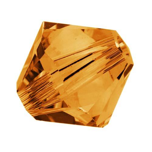 Swarovski Crystal, #5328 Bicone Beads 6mm, 20 Pieces, Topaz