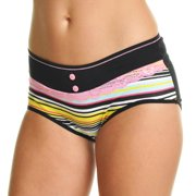 Angelina Cotton Mid-Rise Hiphuggers with Stripe Print Design (6-Pack)