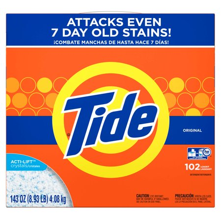 Tide Powder Laundry Detergent, Original, 102 loads, 143 - Roll Tide Shop