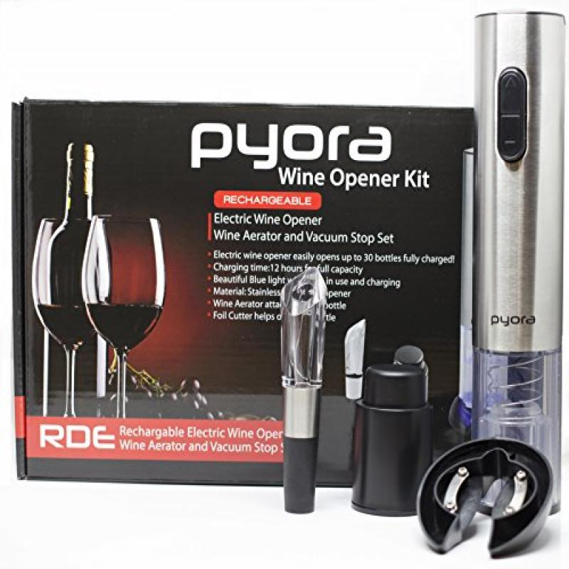 Electronic Wine Opener Gift Set, Rechargeable Stainless S...