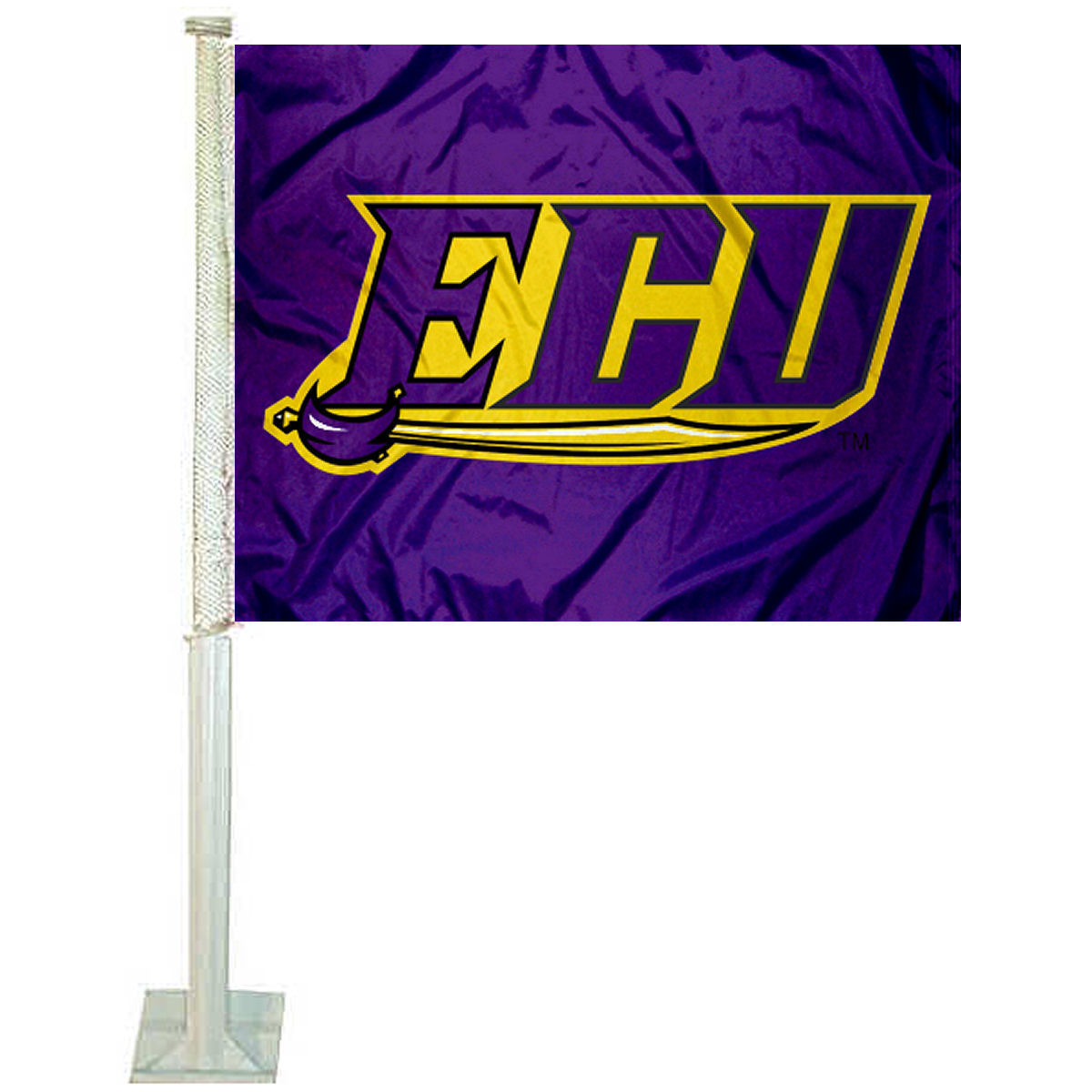 "East Carolina University ECU Sword 12"" x 15"" Car Flag"