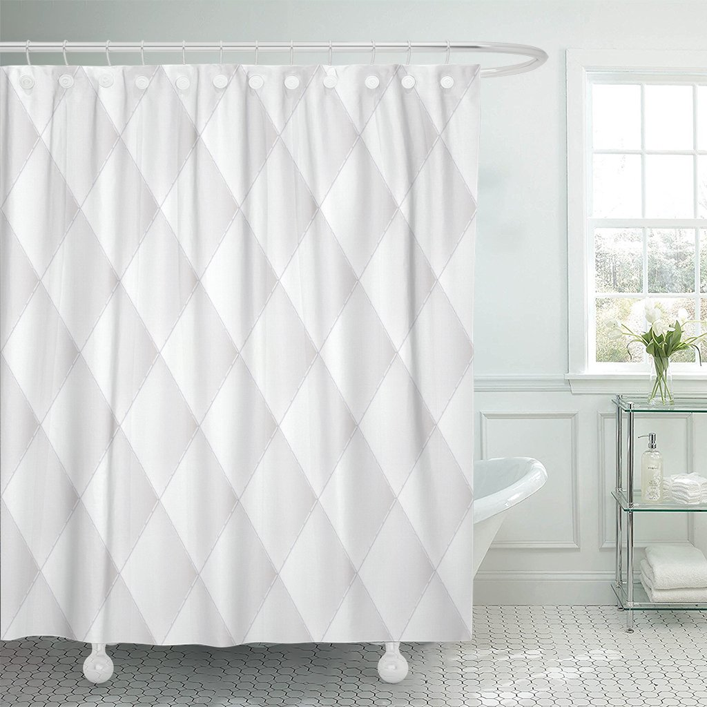Pknmt Pattern Abstract Upholstery Luxury White Seam Modern Light Polyester Shower Curtain 60x72 Inches Walmart Com