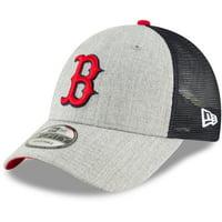 innovative design 5104f ebdc5 Product Image Boston Red Sox New Era Turn Trucker 9FORTY Adjustable  Snapback Hat - Heathered Gray Navy