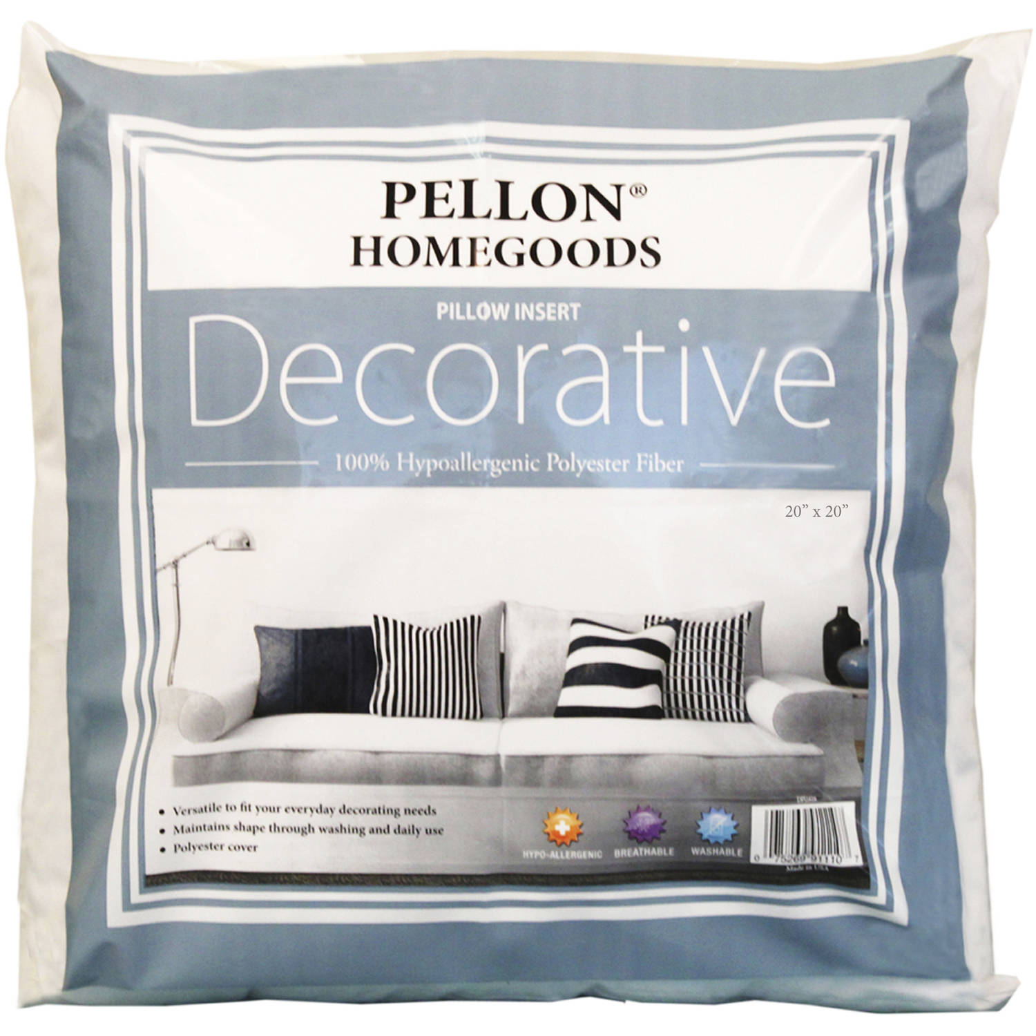 "Pellon Decorative Pillow Insert, 20"" x 20"", Single"