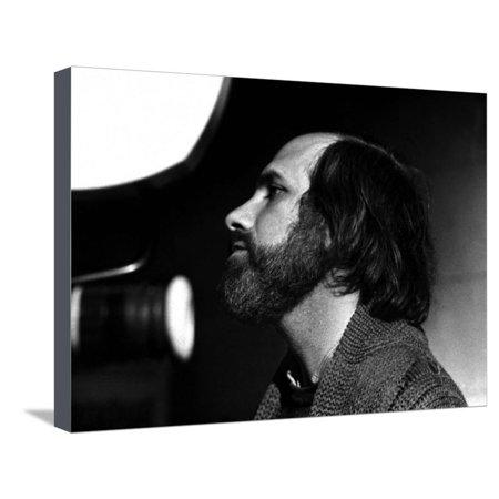 Brian by Palma sur le tournage du film Blow Out en, 1981 (b/w photo) Stretched Canvas Print Wall Art ()