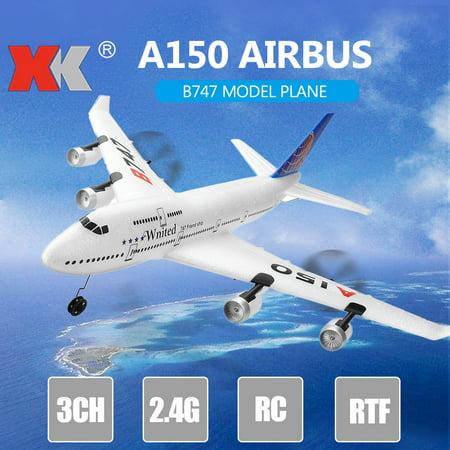XK A150 Airbus B747 Model Plane RC Fixed-wing 3CH EPP 2.4G Remote Control Airplane RTF Toy Remote Control Arf Rc Airplane