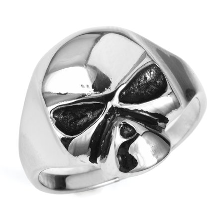 Stainless Steel Plain Skull Ring (Available in Sizes 7 to 11) (Plain Skulls To Decorate)