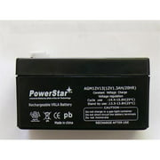 PowerStar AGM1213-28 12V 1.2 Amp NP1.2-12 Hour Sealed Lead Acid Battery with 0.187 Fast-on