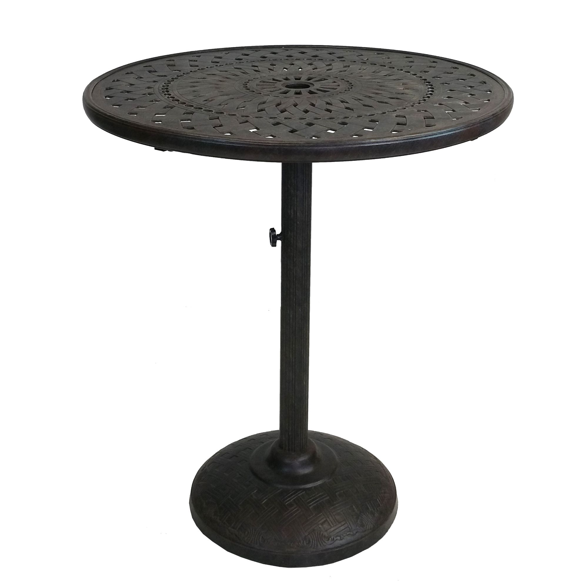 F/&F Furniture Group 40.75 Black-Antique Gold Metal Square Shaped Indoor-Outdoor Bar Height Table