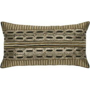"""Rizzy Home Decorative Poly Filled Throw Pillow Geometric 11""""X21"""" N/A"""
