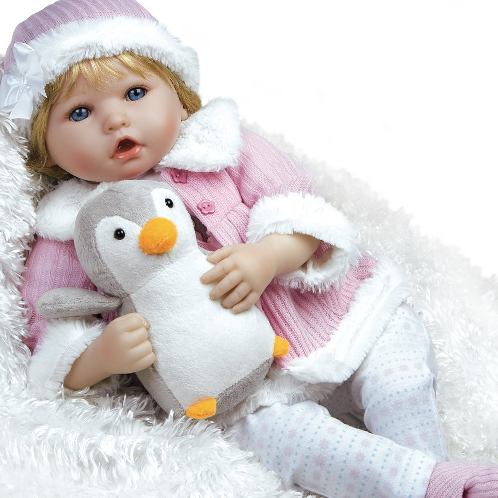 "Paradise Galleries Lifelike Realistic Soft Vinyl Weighted 22 inch Baby Girl  Doll Gift ""Penguin Baby"" Great to Reborn"